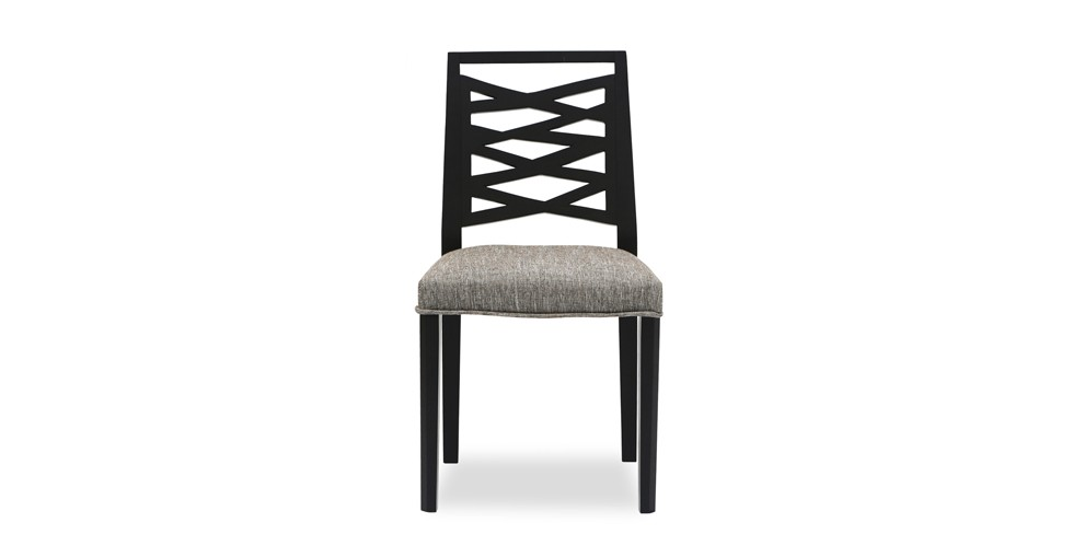 Lina Coral Fabric Upholstered Ebony Dining Chair