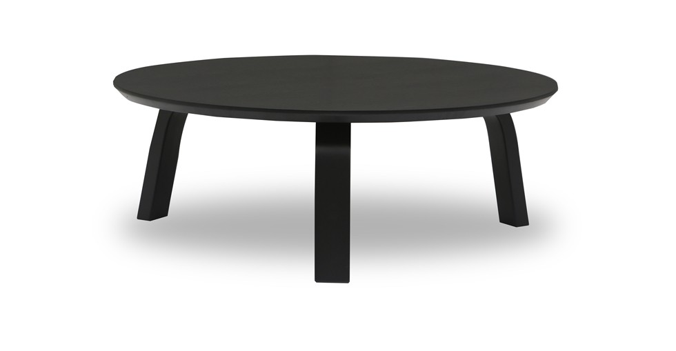 Nes Ebony Wood Round Coffee Table