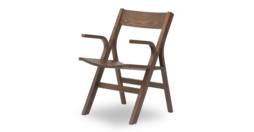 Nes Cocoa Wood Dining Armchair