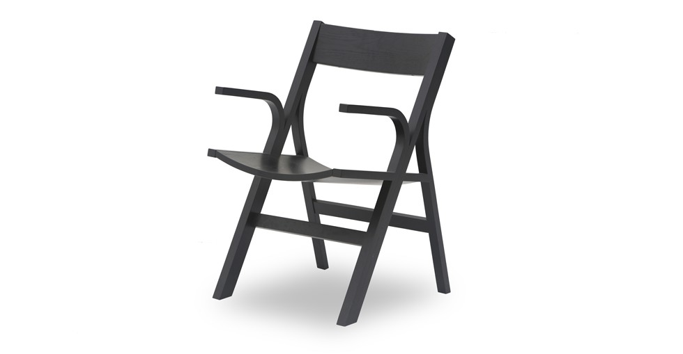 Nes Ebony Wood Dining Armchair