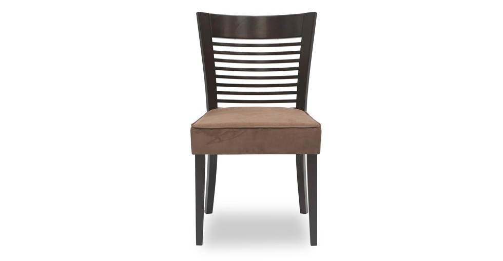 Casey Brown Fabric Upholstered Light Cappuccino Dining Chair