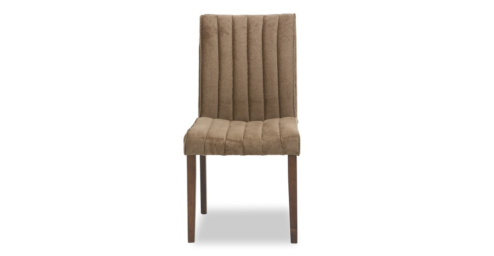 Strip Umber Fabric Upholstered Dining Chair