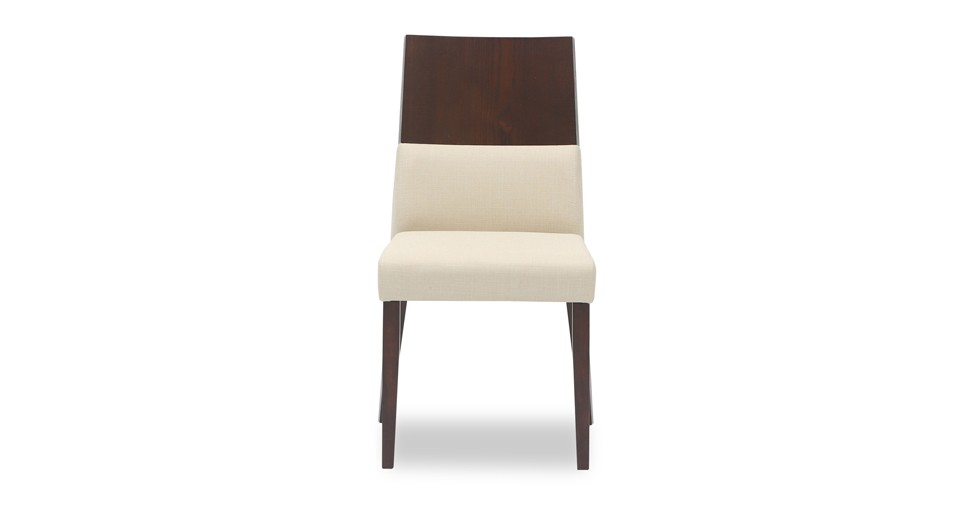 Vivian Khaki Fabric Upholstered Dining Chair