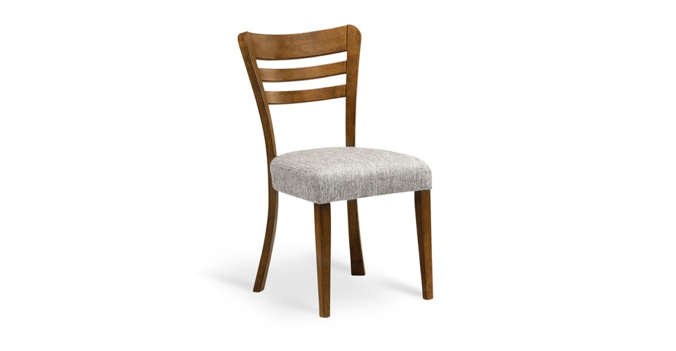 Darby Coral Fabric Upholstered Cocoa Dining Chair