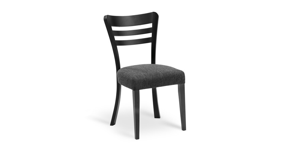 Darby Liquorice Fabric Upholstered Ebony Dining Chair