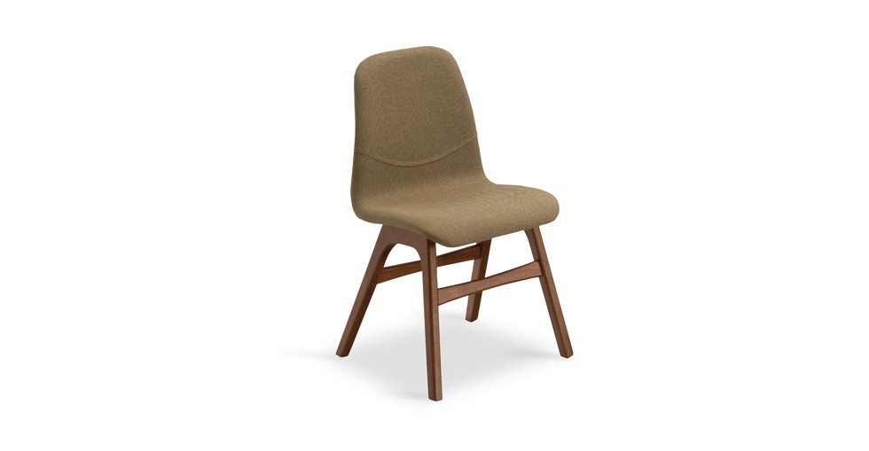 Ava Latte Fabric Cocoa Dining Chair