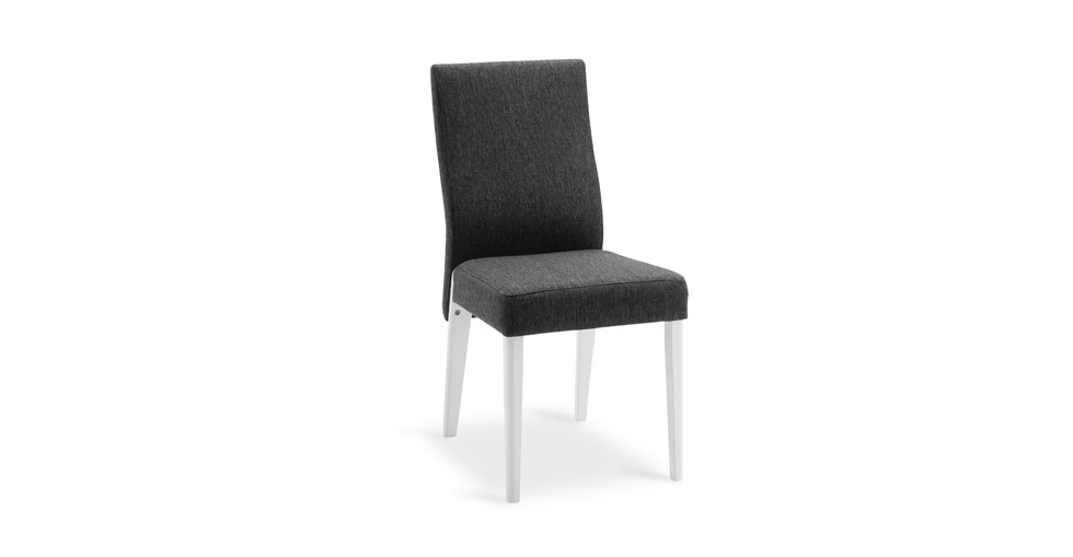 Helice Liquorice Fabric Upholstered Snow Dining Chair