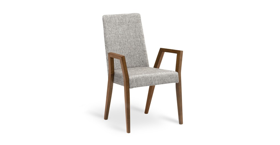 Melvie Coral Cocoa Dining Armchair