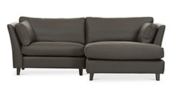Long Island Brown Leather Right Sectional