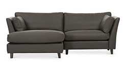 Long Island Brown Leather Left Sectional