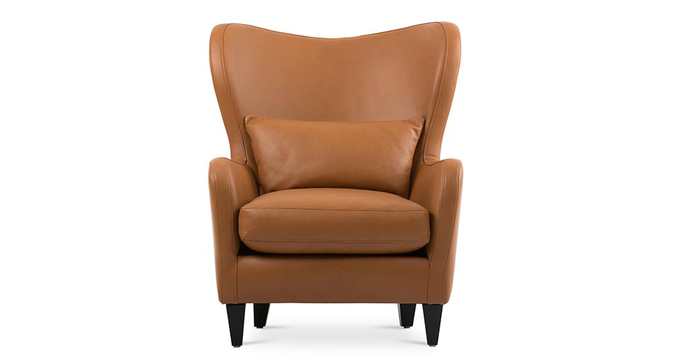 Polo Cognac Leather Armchair