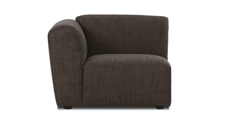Domino Brown Left Armchair