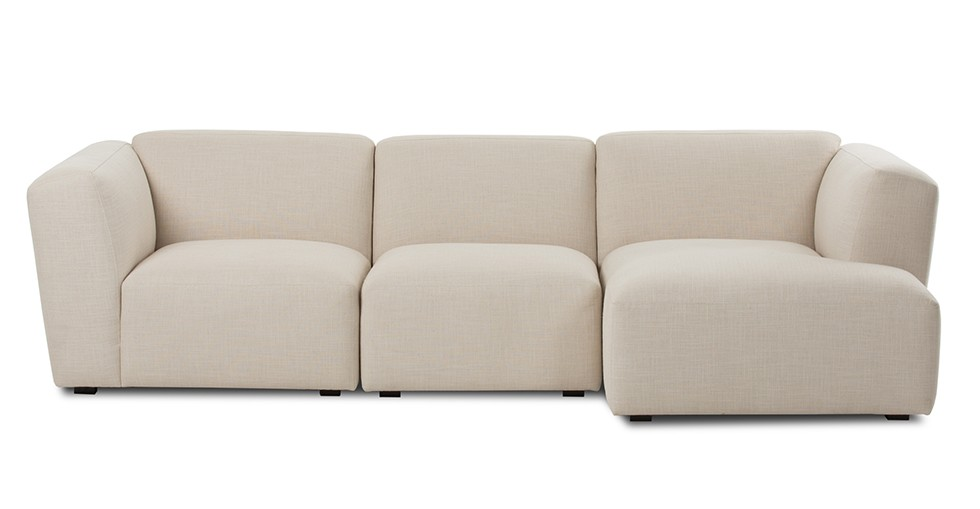 Domino Beige Right Sectional