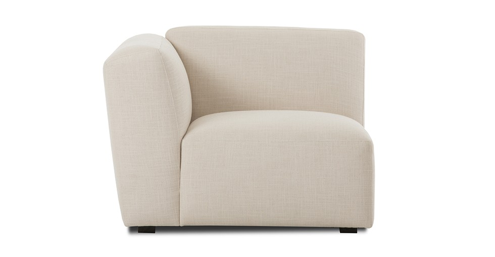 Domino Beige Left Armchair