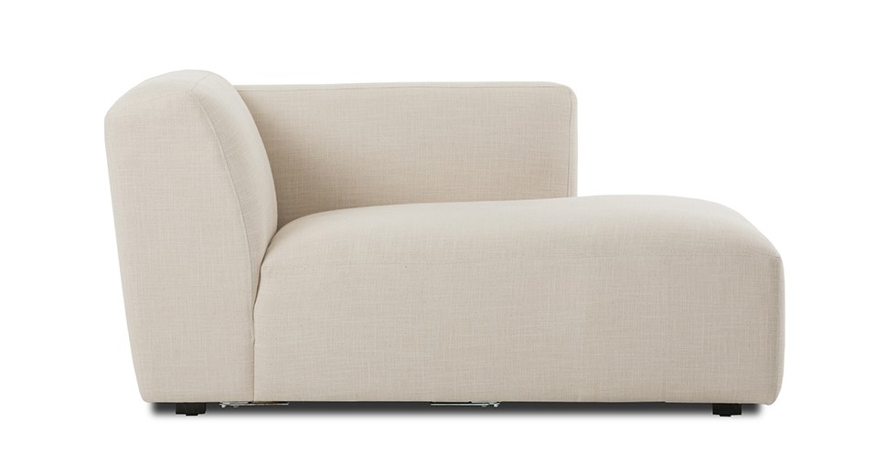 Domino Beige Right Sectional Chaise