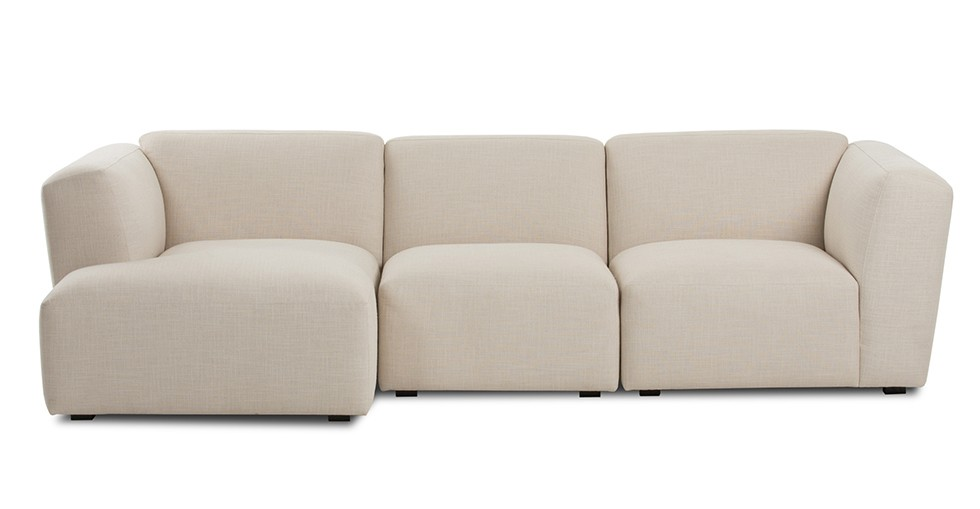 Domino Beige Left Sectional