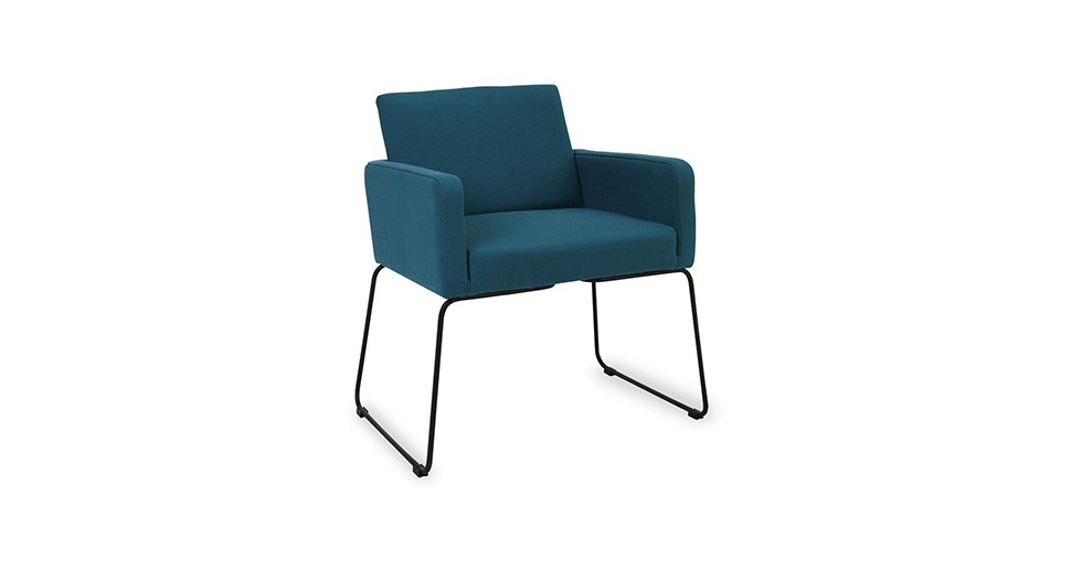 Delma Teal Dining Armchair