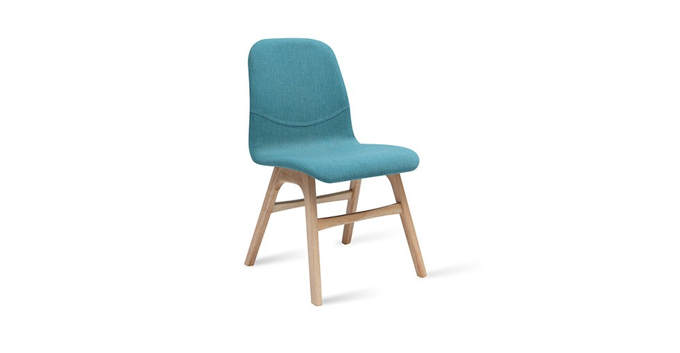 Ava Emerald Fabric Oak Dining Chair