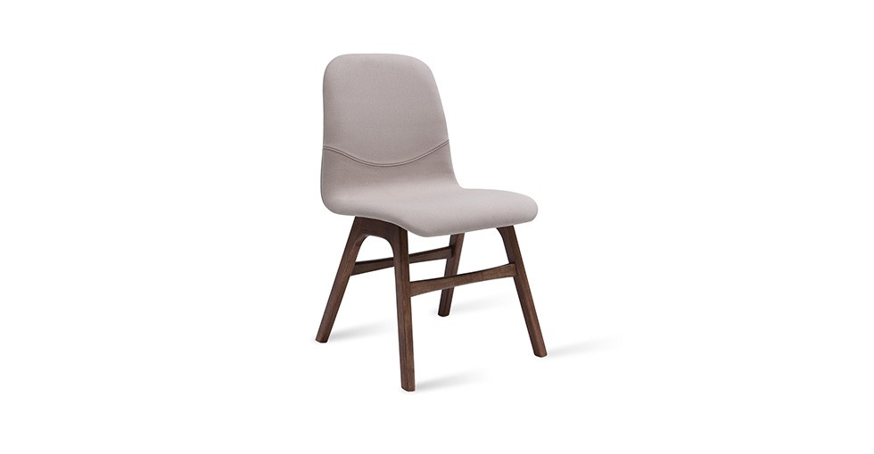 Ava Barley Fabric Walnut Dining Chair