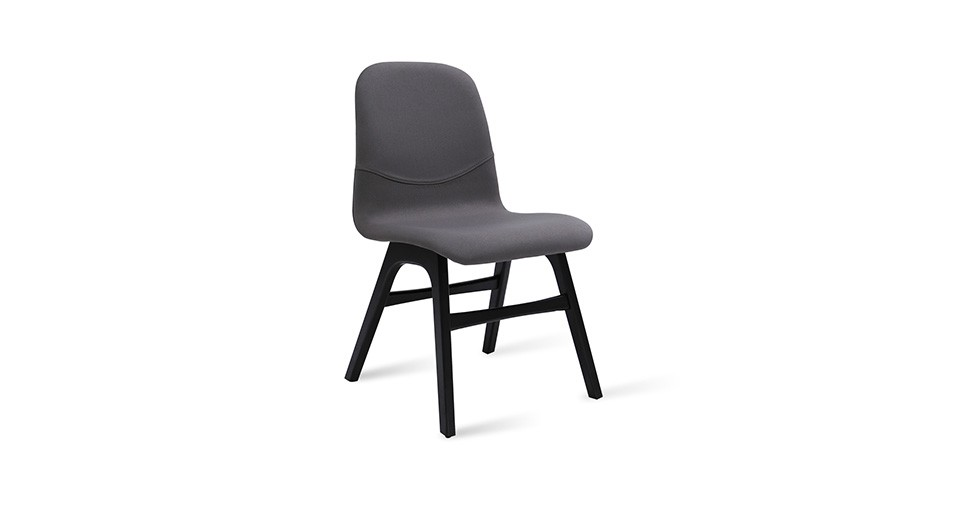 Ava Paloma Fabric Black Dining Chair