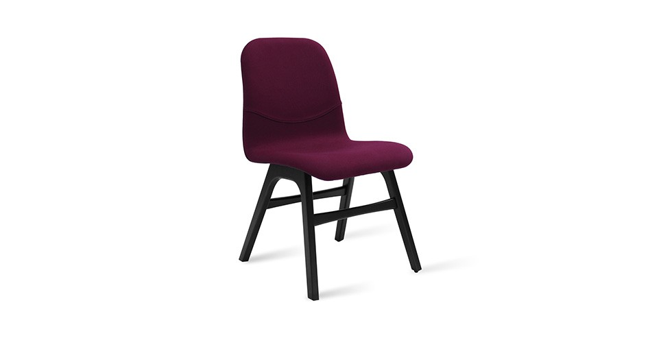 Ava Ruby Fabric Black Dining Chair