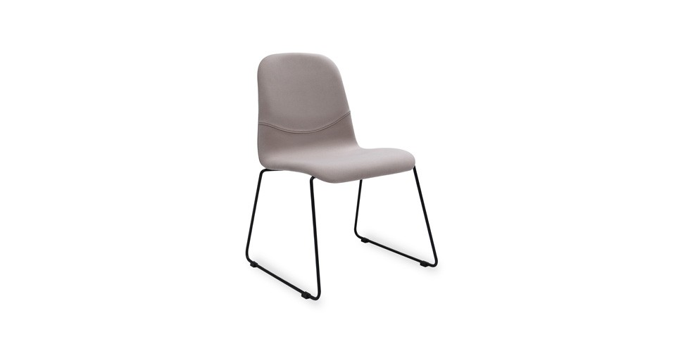 Ava Barley Fabric Metal Dining Chair