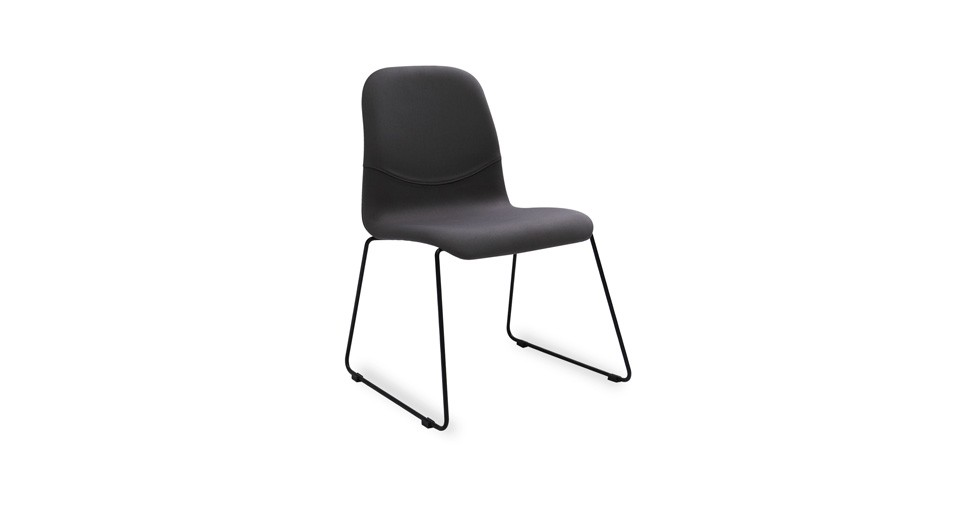 Ava Paloma Fabric Metal Dining Chair