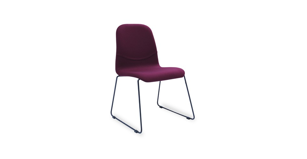Ava Ruby Fabric Metal Dining Chair