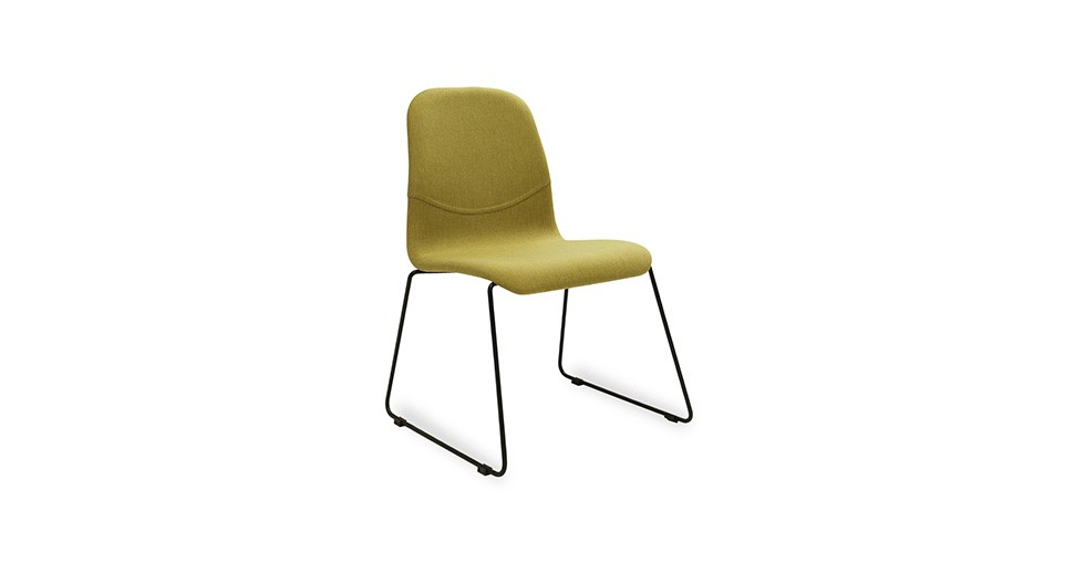 Ava Oasis Fabric Metal Dining Chair