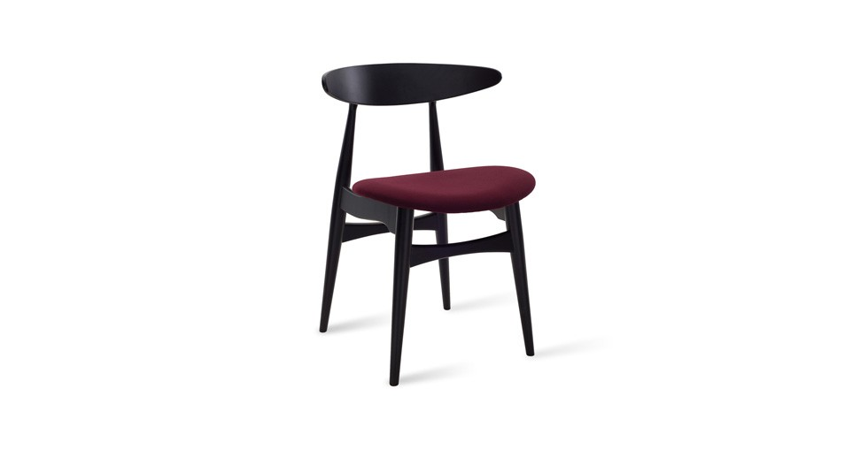 Tricia Ruby Fabric Black Dining Chair