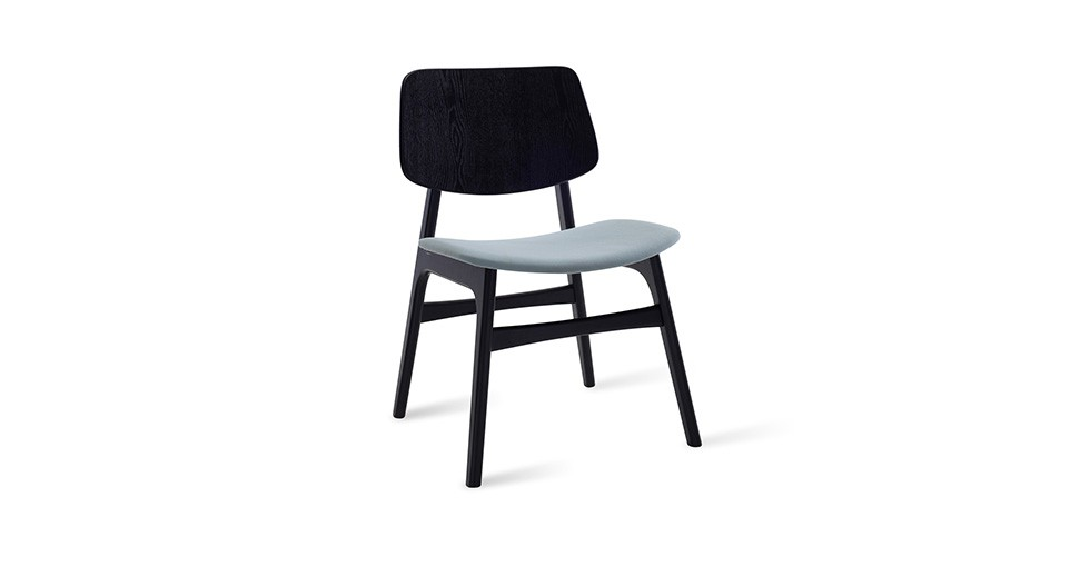 Margo Jade Fabric Black Dining Chair