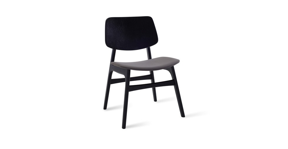 Margo Paloma Fabric Black Dining Chair