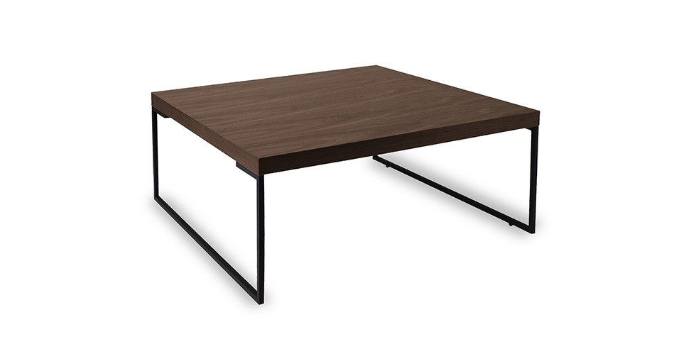 Myron Walnut Square Coffee Table