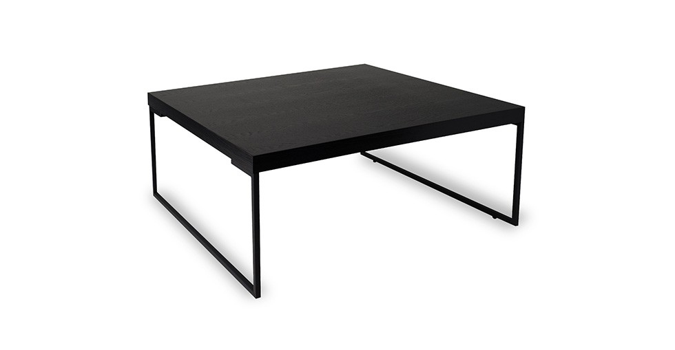 Myron Black Square Coffee Table