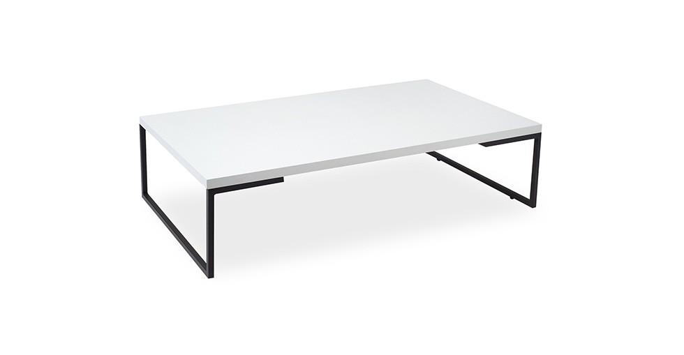Myron White Rectangular Coffee Table