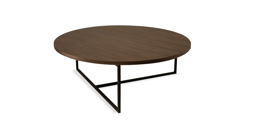 Turner Walnut Round Coffee Table