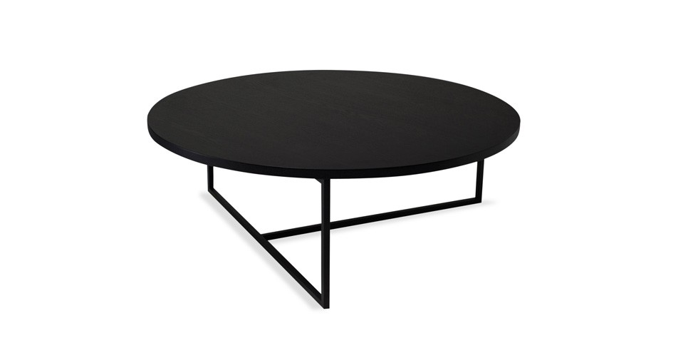Turner Black Round Coffee Table