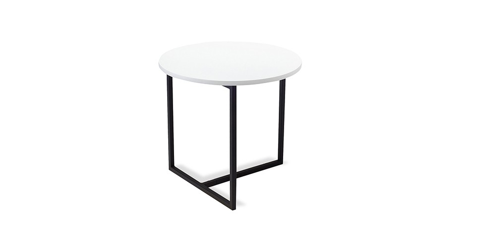 Turner White Round End Table