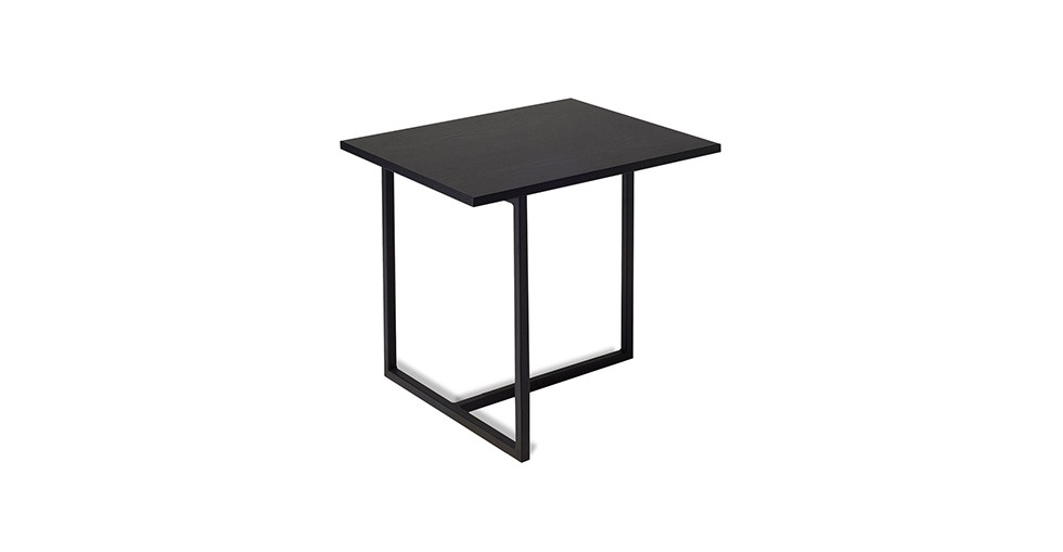 Turner Black Rectangular End Table