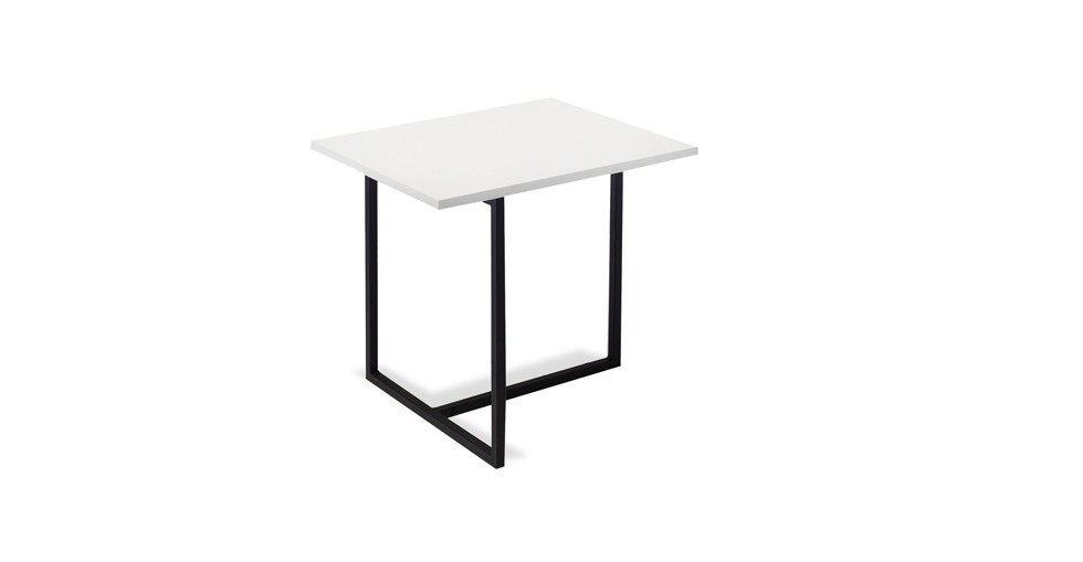 Turner White Rectangular End Table