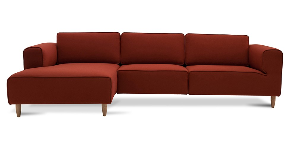 Derby Cinnamon Left Sectional With Chaise