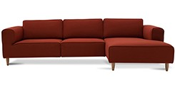 Derby Cinnamon Right Sectional With Chaise