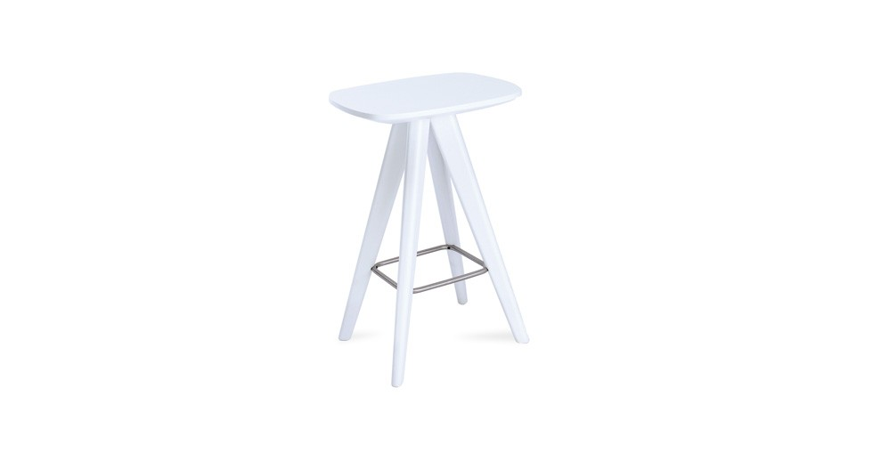 Petite White Counter Stool
