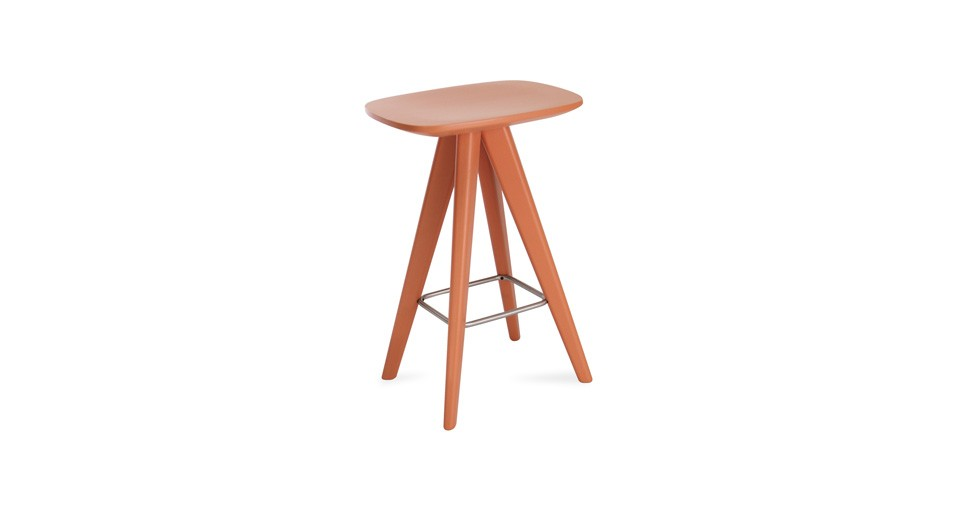 Petite Orange Counter Stool