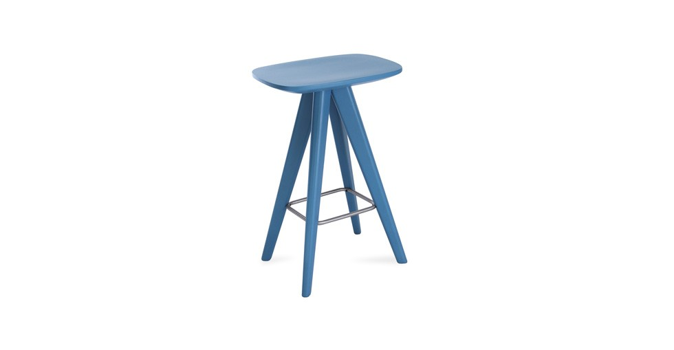 Petite Blue Counter Stool