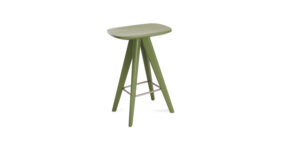 Petite Green Counter Stool