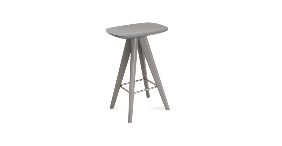 Petite Gray Counter Stool