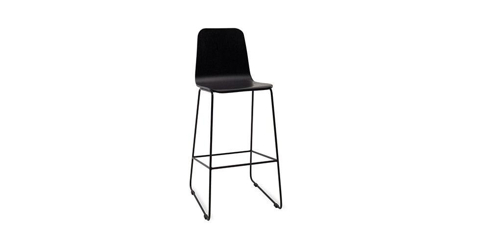 Ava Black Metal Bar Stool