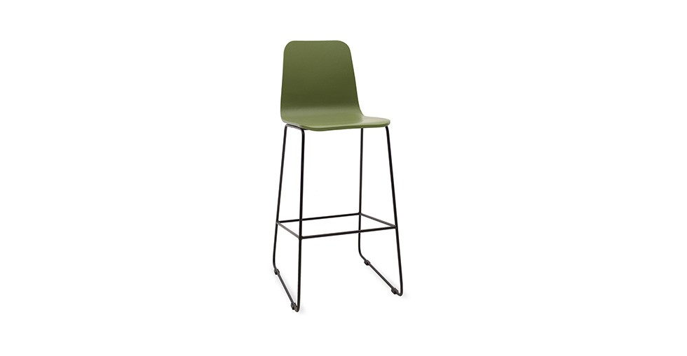 Ava Green Metal Bar Stool