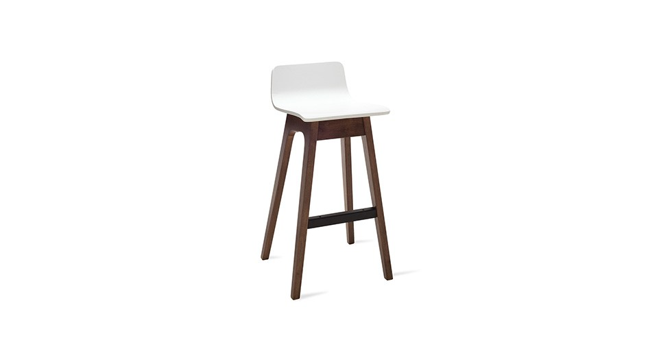 Ava White Bar Stool